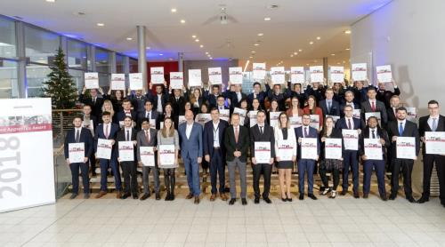 All 2018 honored apprentices at CongressPark, Wolfsburg