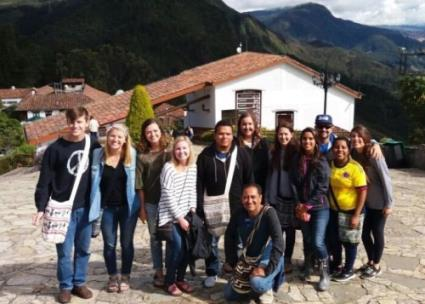 Lee students on a Global Perspectives trip to Colombia during the summer of 2017