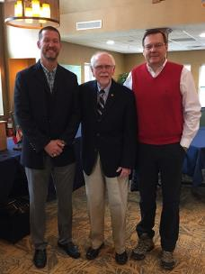 Pictured, from left to right, are Chris Neighbors, Hamilton Place Rotary Club president; Jerry Turner, East Brainerd Kiwanis Club president; and Dr. James Marcum with Heartwise Ministries