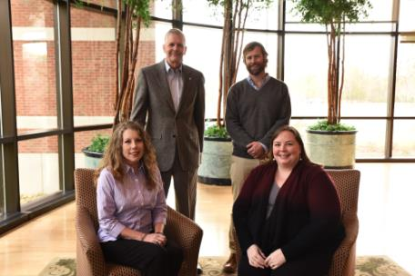 2018-2019 Faculty Fellows include Dr. Allison Fetters, Dr. Scott Douglass, Dr. Bill Taylor, and Dr. Elizabeth Norell. Not pictured: Dr. Skylar Davidson