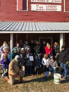 A group from last year's First Day Hike is bundled up against the cold at Prater's Mill Historic Site. The next First Day Hike is set for Tuesday, January 1 at 3 p.m.  Meet on the porch of the mill.