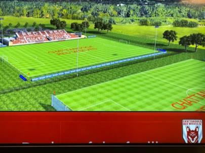 Rendition of new training facility at Camp Jordan Park