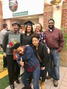 James Lattimore, oldest son, Denver, Dinari Parks, grandson, Angela Lattimore, graduate, Amaicia Thompson - granddaughter, Catrice Walker-Parks - daughter, Terrence Parks - son-in-law