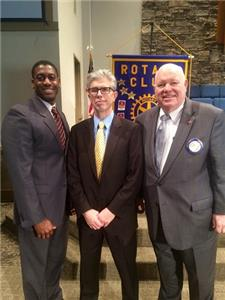 Pictured from left to right:  James Brown, HP Club member; Dr. Larry Shears, with Erlanger; and Phil Smartt, HP Club member.