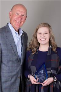 Steven C. Smith, Food City president and CEO, with Emily Harris