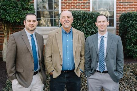 From left, Dr. Ryan Goodman, Dr. William Kamm and Dr. Jason Bell