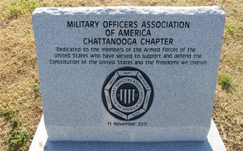 The Chattanooga Chapter of the Military Officers Association of America will dedicate a memorial at the Chattanooga National Cemetery