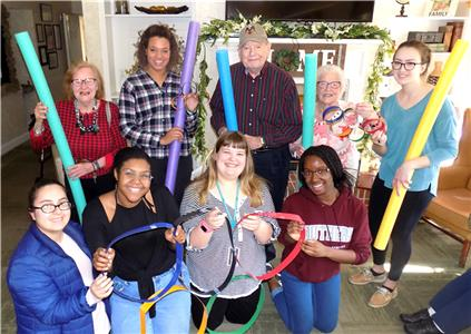 Southern Adventist University psychology students and residents at The Lantern at Morning Pointe Alzheimer's Center of Excellence, Collegedale, celebrated the 2018 Winter Olympics with games of their own.