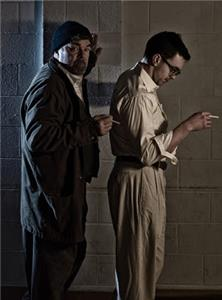 Rob Inman, left, plays the central character of Tom in the present, while Christian Smith, right, plays him in the past, a distinctive element of the production