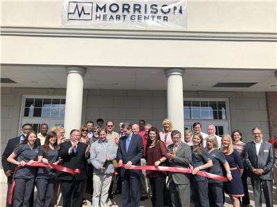 The ribbon cutting for the Morrison Heart Center