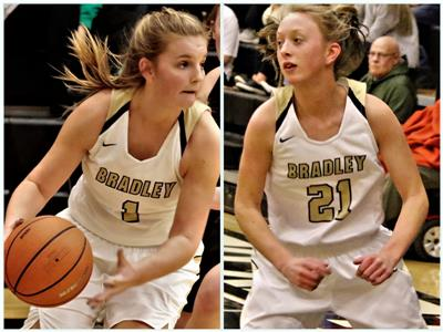 The other two starters that have helped propel Bradley Central to the girls' state tournament at MTSU are Kaleigh Hughes, left, and Cambree Mayo. The Bearettes are gunning for their first state title since 1976 and sixth overall.