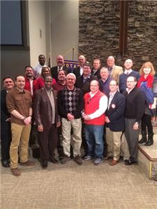 Pictured are the clergy from various churches that were honored, along with the Rotary Club members who invited them.