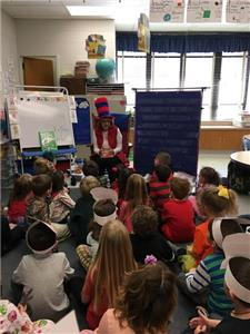 Volunteers from David Campbell chapter of the DAR read at various schools in celebration of Dr. Seuss' birthday