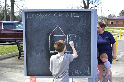 Chalk easels will be part of the community art offerings on May 5