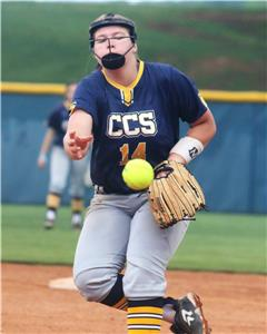 CCS junior Madison Hollis delivers a pitch Tuesday night in their win over DCA.