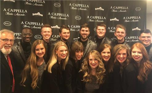 The members of Voices of Lee at Saturday's 2018 A Cappella Awards ceremony in Nashville