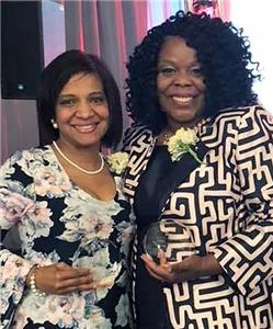 Chattanooga State's Martina Harris and Kisha Caldwell were honored at the 14th Annual Unbought and Unbossed Awards presented by Girls Inc.
