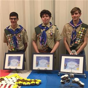 Blake DeLay, Quinn Denton and Callan Richardson have earned Eagle Scout