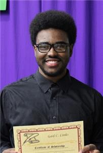 Jaylon Harris, a graduate of Central High School, received a Gail Links Scholarship