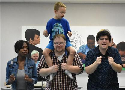 From left, Tiffany Bulloch, Garry Lee Posey, Edward LaGuardia, and Noah Phillips (on shoulders)