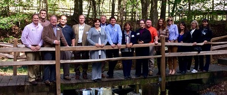 2017-18 Leadership Cleveland class participants shown at Red Clay State Park