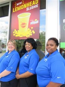Krystal managers, from left, Lyticha Jennings, Vickie Joiner and Shericka Blackshear