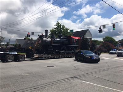 Steam train heads for new home at Children's Hospital