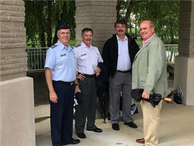 From left, Civil Air Patrol Colonel Barry Melton, Colonel Dent Young, Captain Deming Gray and Jack Mullinax