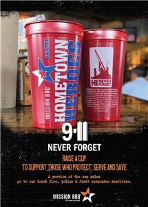 Hometown Heroes cup at Mission BBQ