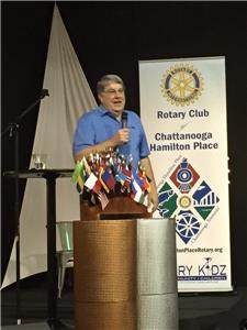 Henry Lodge speaking to the Rotary Club of Chattanooga Hamilton Place