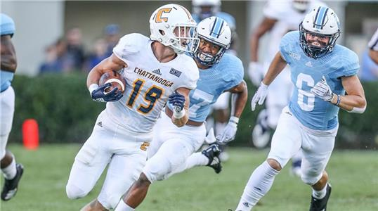 UTC's Bryce Nunnelly has been named Southern Conference Player of the Week for the second week in a row,, as well STATS National Offensive Player of the Week for his performance in the Mocs' 29-28 win in overtime over The Citadel.