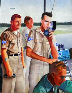 Tense Moment in Sewart Control Tower, 1958