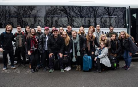 The Lee University U.K. Semester Study Abroad group just before their departure