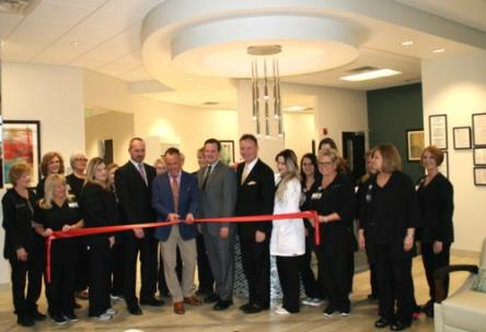 The grand opening of the new Plastic Surgery Group office in the 901 Building on Riverfront Parkway