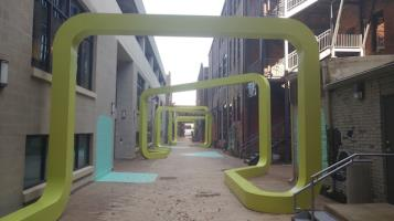 New downtown alleyway off Seventh Street