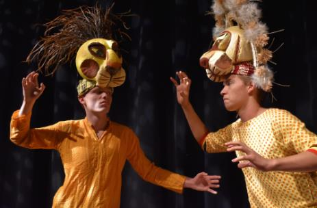 "Noah Hawkins as Scar on left, and Drew Champion as Mufasa, in the Chattanooga Theatre Centre's Youth Theatre production of Disney's beloved coming-of-age tale ""The Lion King,"" opening Oct. 25 and running through Nov. 3"