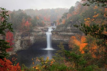 Soon, the fall colors will explode at DeSoto Falls in DeSoto State Park in northeast Alabama. With some much-needed rain, several waterfalls in the park will come to life - and will be the answer to any nature photographer's dream.