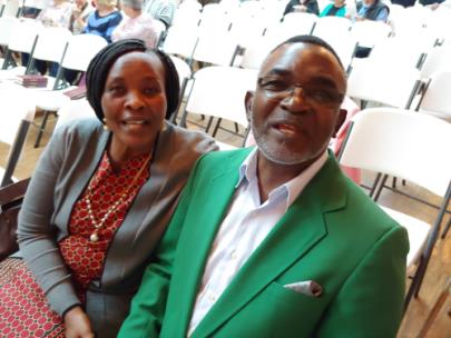 Bishop and Mrs. Isaac Obure from Kenya