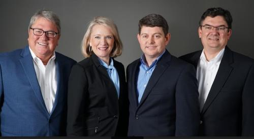 Photo of proposed management team, left to right: Kerry Riley, chief credit officer; Camille Daniel, chief lending officer; Patrick Jensen, chief financial officer; Hamp Johnston, president and CEO