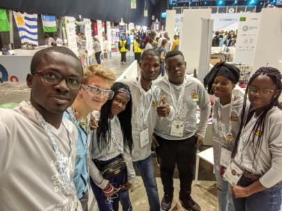 Jason with the robotics team from Togo