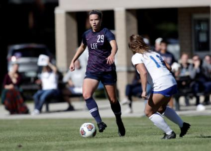 Kelsey Yoder's second straight postseason goal sends Lee to GSC Finals.