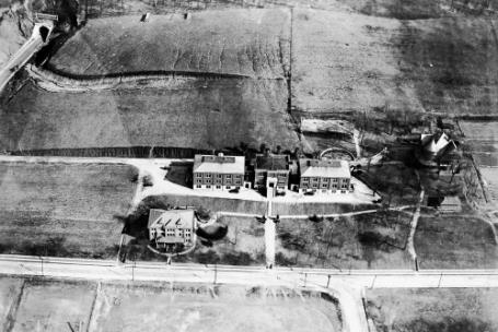 Aerial view of McCallie School campus in 1920