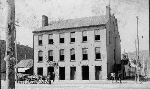 Brick building that dated to the Ross's Landing days long stood at Fourth and Market. It was a Civil War jail.