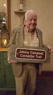 Jimmy Campbell with trail marker
