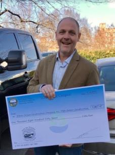 Ethan Collier, president and CEO of Collier Construction, receives a grand total of 1,867 cubic feet in Stay-On-Volume (SOV) Stormwater credits on his Reside North community
