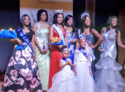 In front were sash bearer Ariel Bone and crown bearer Daesha Jackson. Left to right are JeLiia Pierce, Felicia Williams, Miss Bessie Smith 2019 A'nya Nelson, first runner up Kaylea Moore, Miss Bessie Smith 2018 Kaiya Moore and Zenobia Crawford.