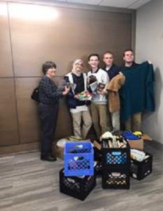 Central High School NHS students donated items to the Erlanger Oncology Center