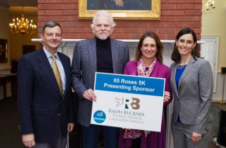 From left, Dr. Bill Estes, title sponsors Ralph Buckner Jr. and his wife Chari, and Vanessa Hammond, CF parent and Great Strides co-chair