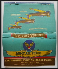 World War II promotional poster for San Antonio Center