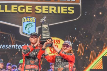Cole Sands and Bailey Fain of Bryan College win the 2019 Carhartt Bassmaster College Classic  presented by Bass Pro Shops out of Knoxville, Tn., with 13 pounds, 11 ounces on Watts Bar Lake.